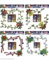 Lot de 2 Autocollants décoration de Noël pour fenêtre, 4 styles ass. - 12 cm