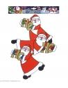 Décoration de fenêtre Trio de Pères Noël vertical de 40 cm