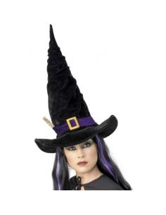 Chapeau de sorcière noir et violet | Accessoires