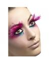 Faux-cils longues plumes roses | Accessoires
