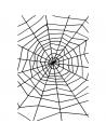 Toile d'araignée noire avec araignées | Décorations