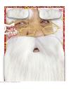 Barbe Père Noël avec moustache et sourcils
