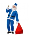 Déguisement Père Noël Bleu (veste, pantalon, bonnet, barbe avec moustache, ceinture)