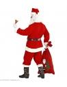 Déguisement Père Noël Super Luxe Homme (veste, pantalon, sur-bottes, bonnet, barbe, moustache, sourcils)