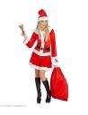 Hotte du Père Noël en velours rouge - 60 x 100 cm