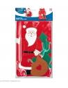Hotte de Père Noël décorée - 60x 100 cm