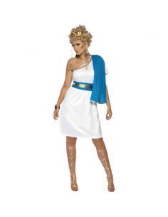 Déguisement beauté romaine bleu et blanc | Déguisement