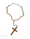 Croix Marron/ Rosaire pour déguisements de religieux
