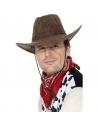 Chapeau cow-boy marron suède | Accessoires