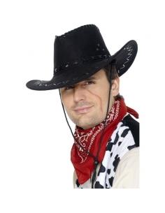 Chapeau cow-boy noir suède | Déguisement