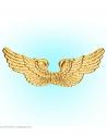 Ailes d'Ange dorés en plastique