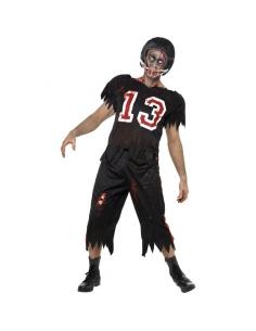 Déguisement footballeur américain zombie noir | Déguisement Homme