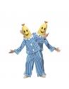Déguisement banane en pyjama bleu et blanc | Déguisement Homme