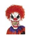 Masque clown horrible avec cheveux rouge | Accessoires