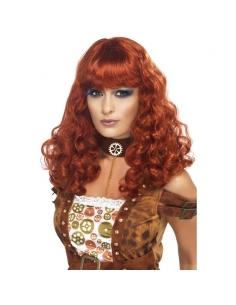 Perruque femme steampunk auburn | Accessoires