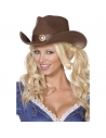 Chapeau cowgirl marron sexy | Accessoires