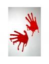 Décor vitre mains en sang | Décorations