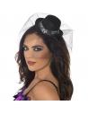 Serre-tête mini chapeau noir sexy | Accessoires