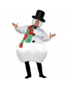 Déguisement bonhomme de neige gonflable blanc | Déguisement Homme