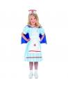 Déguisement infirmière vintage fille (robe avec cape et coiffe)