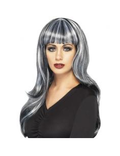 Perruque sirène noire et grise   Accessoires