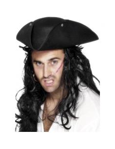 Chapeau pirate tricorne noir | Accessoires