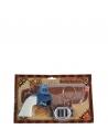 Pistolet à eau bleu et blanc avec holster   Accessoires
