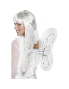 Ailes papillon blanches et argentées | Accessoires