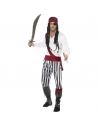 Déguisement pirate rayé blanc et noir | Déguisement Homme