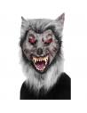 Masque loup gris avec fourrure | Accessoires
