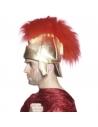Casque romain doré avec plumes rouges | Accessoires