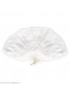 Eventail blanc en plumes