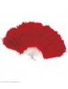 Eventail rouge en plumes