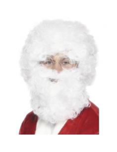 Perruque + barbe Père Noël | Accessoires