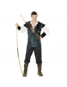 Déguisement Robin des bois vert (pantalon, chemise, ceinture avec porte flèches et sur-bottes)| Déguisement Homme