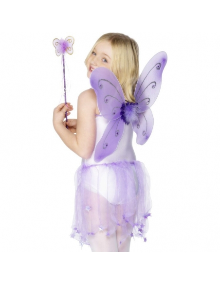 Ailes de papillon enfant violettes | Déguisement Enfant