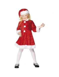Déguisement petite miss Noël velours   Déguisement Enfant