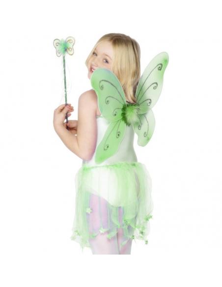 Aile de papillon enfant vertes   Déguisement Enfant