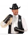 Set de COWBOY (étoile de sheriff et collier avec tête de bison)