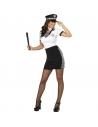 Déguisement Policière Sexy Femme (jupe, haut, casquette, collier)
