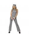 Déguisement prisonnière (haut, pantalon et chapeau)