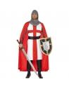 Déguisement Héros St georges blanc et rouge | Déguisement Homme