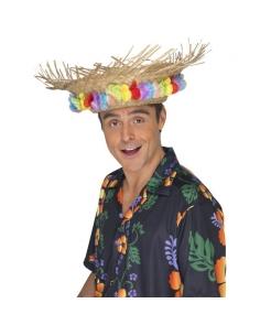 Chapeau paille hawaï avec fleurs | Accessoires
