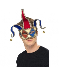 Masque joker à grelots | Accessoires