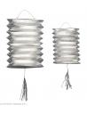 Lot de 2 Lanternes Argent Métallique - H 25 cm