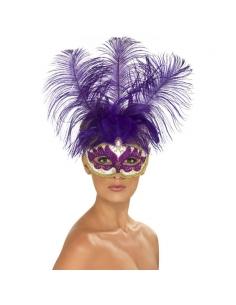 Masque plumes violettes | Accessoires