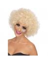 Perruque femme disco afro années 70 blonde | Accessoires