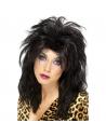 Perruque rock star années 80 noire | Accessoires
