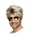 Perruque annees 80 street blonde mechee   Accessoires