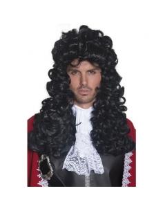 Perruque de capitaine pirate noire - longue | Accessoires